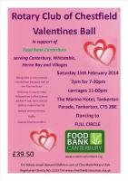 Valentine Ball - Over £1000 raised for Food Bank Canterbury