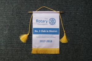 2017 - 18 Number 3 Club in the District