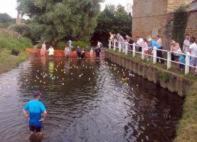 2013 Duck Race at Kislingbury Mill