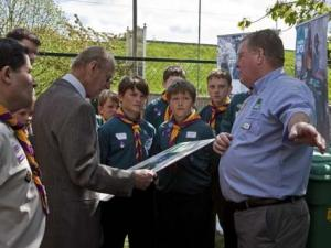 David Shaw, HRH, 12th Windsor Scouts & Fred King 1090 International Chairman