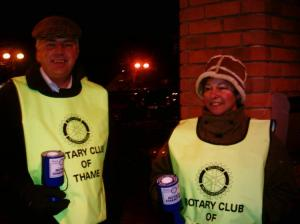 Nigel and Wendy collecting on 23rd December