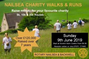 NAILSEA CHARITY WALKS & RUNS, 9 June 2019