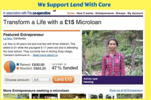 Lend with Care -  We support this incredible initiative