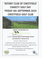 CHARITY GOLF DAY - FRIDAY 6TH SEPT 2019