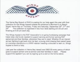 Wings Appeal Fund Raising Collections