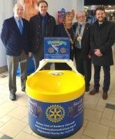Wishing Well collection box installed at Castle Quay