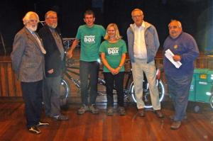 Round the world cyclists visit Wensleydale