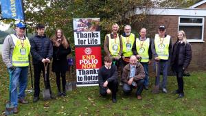 End Polio Now - Crocus Planting at Rodborough School