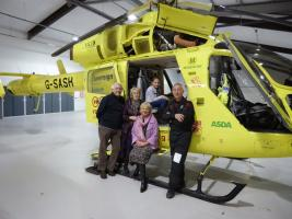 Visit to Yorkshire Air Ambulance HQ - December 2014