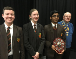 Winners of the 'Senior' section - St. Peter's RC High School with their Speech on the subject of 'A Work of Art'.