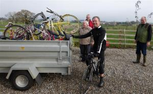 Yellow Bikes go to Charity for Recycling