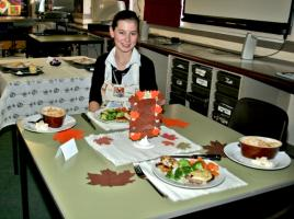 Young Chef Competition held in Beeslack School where Lauren Mclay won 1st place.