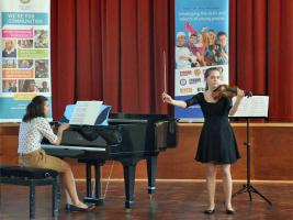 9 March 2014 - Violinist Scarlet wins District Young Musician Competition