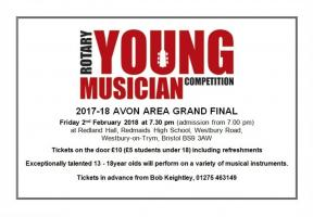 Avon area Young Musicians Final at Redmaids High School, Bristol.