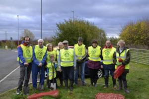 Daffodil Bulb Planting in Bourne Town on November 15th 2015