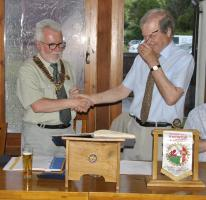 Handover to start of the new Rotary year at the Baron