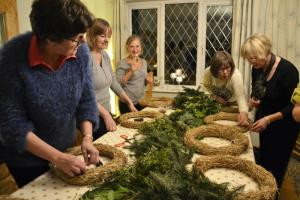 Christmas Wreath Making Workshop on 8th December 2015
