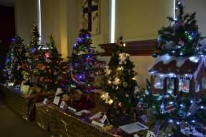 Christmas Tree Festival at the Bourne Methodist Church 29th and 30th November 2014