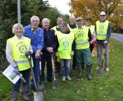 Planting Crocus and Daffodil bulbs in Bourne town Sunday 30th November 2016