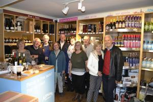 Wine tasting and nibbles at Adnams Stamford 4th October 2017