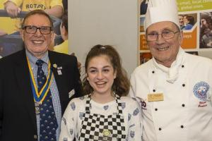 ISZY PREPARES FOR DISTRICT FINAL OF THE  ROTARY YOUNG CHEF COMPETITION
