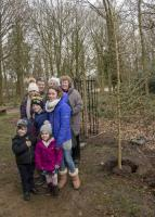 Tree planting in memory of Ron Piggott