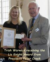 The Les Knight Award 2019 for helping local youth has been given to Patricia (Trish) Warwick