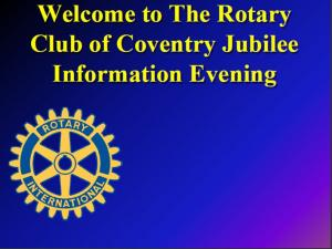 Coventry Jubilee Rotary Club....