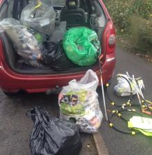 Nov 2015 Litterpicking - Oakington, Histon, Girton