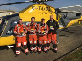 Personal head lamps for air ambulance crew