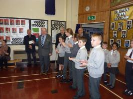 Cheque presented at Dane Ghyll School