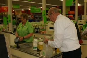 Asda bag packing for Pakistan aid