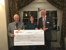 Rotary Cycle Ride cheque presentations