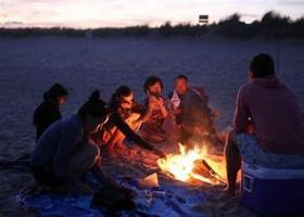 Rotaract Warmup Beach Bonfire