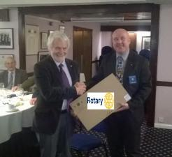 Rotary Club of Rushen & Western Mann donates laptop computer to Southern Branch of Manx Citizen's Advice Bureau - January 2016