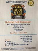 Grand Charity Car Boot Sale at Adur Recreation Ground
