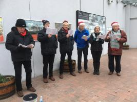 Carols at Gourock Station