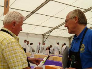 Rotarians help at Frome Agricultural and Cheese Show