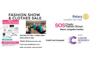 Dee Valley Rotary Club Fashion Show for Cancer Research - International Pavilion, Llangollen