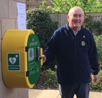 Copmanthorpe defibrillator ready for use