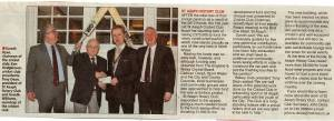 Our Club in the News - Cricket club