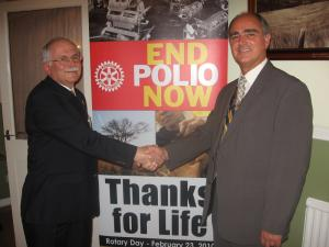 District Governor John Samuels - Eradicate Polio.