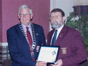 Thornhill Receives Rotary Presidential Citation for 2009-10