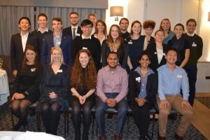 our scholars for 2017/18, at our Meet the Scholars dinner in Oxford in October