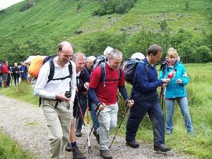 Our intrepid members set off to tackle the mountains.