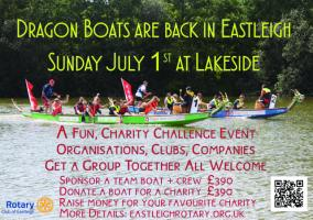 Dragon Boats in Eastleigh