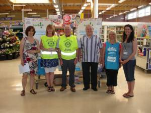 One of the foodbank sessions attended by club members Christine and Alan