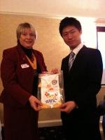 Visit by Takumi Mieda, Sano Rotary Club, Japan