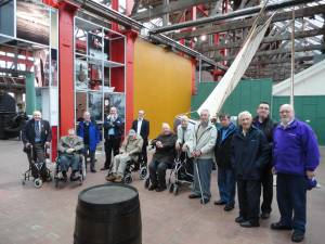 Outing with Erskine Hospital Vets to Maritime Museum in Irvine