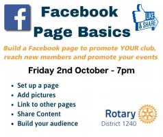 District 1240 Lockdown  - Facebook Basics by Rtn Kathryn Evans